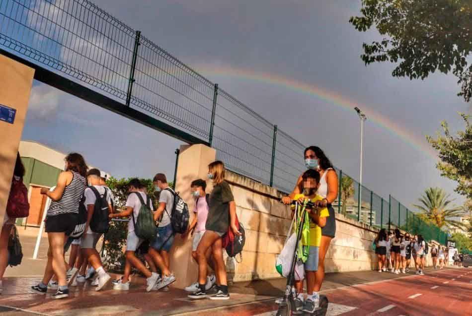 Der erste Schultag nach den Sommerferien auf Mallorca.