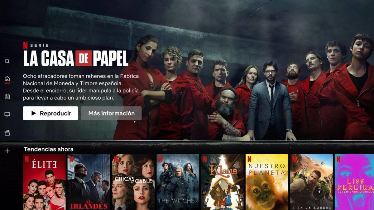 The Netflix platform.