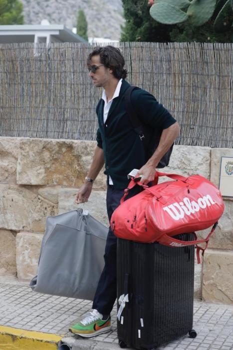 El tenista Feliciano López llega al Port de Pollença