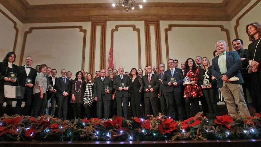 Aixiña, Abanca, Expourense, Cuevas y San Cibrao reciben los Premios Mercurio