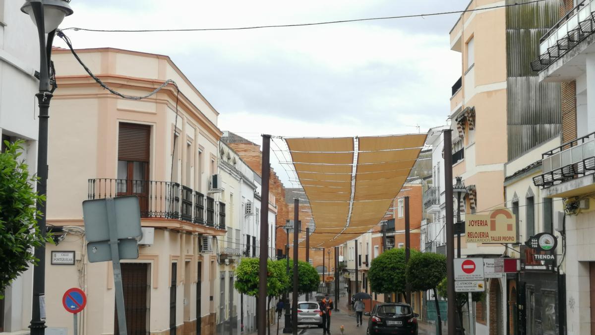 Entoldado de la calle José Ramón Mélida.