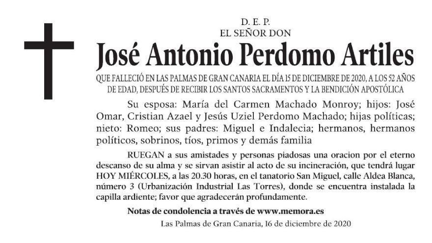 José Antonio Perdomo Artiles
