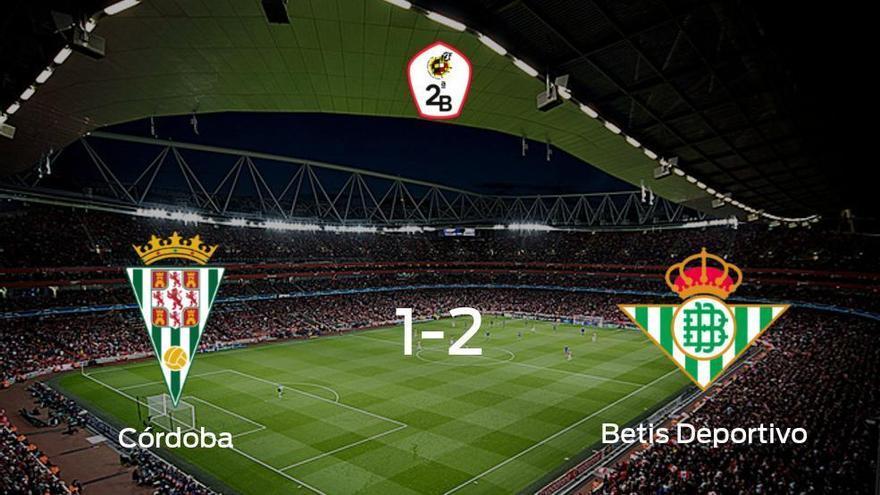 El Betis Deportivo vence 1-2 al Córdoba y se lleva los tres puntos