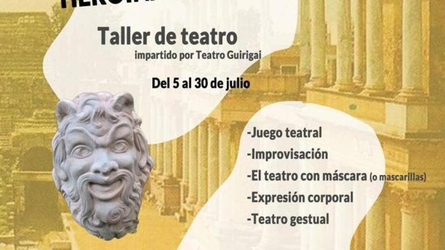 Taller de teatro en la Casa de la Cultura de Los Santos de Maimona