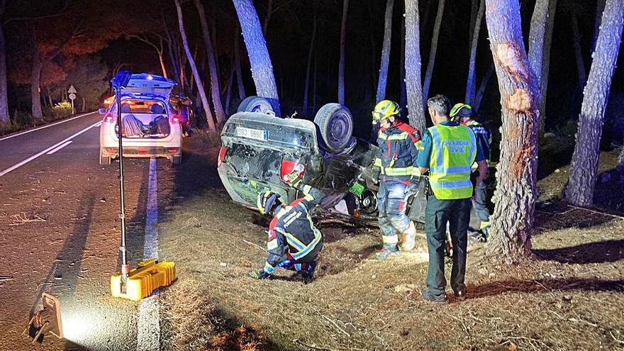Un herido en un accidente en la carretera de sa Mola de Formentera