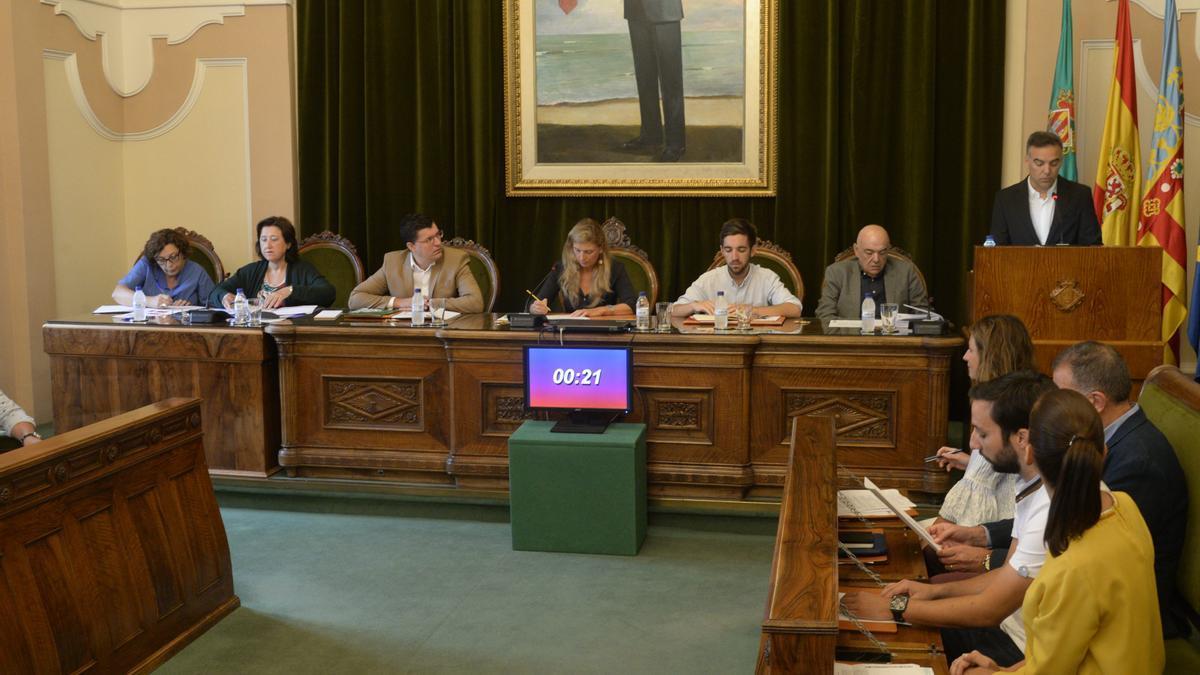 El portavoz de Cs en una intervención en un pleno de Castelló.