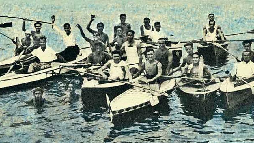 Alicerces dos deportes náuticos en Cangas (II)