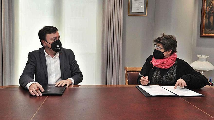La Diputación colabora con los pisos de acogida de Casco