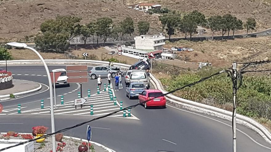 Accidente en las inmediaciones de La Barrera, de Valsequillo