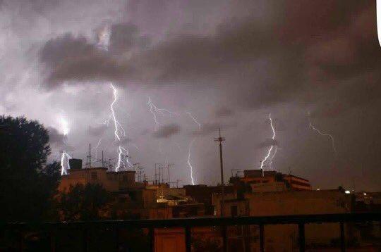 Vista de la tormenta desde Alfafar.