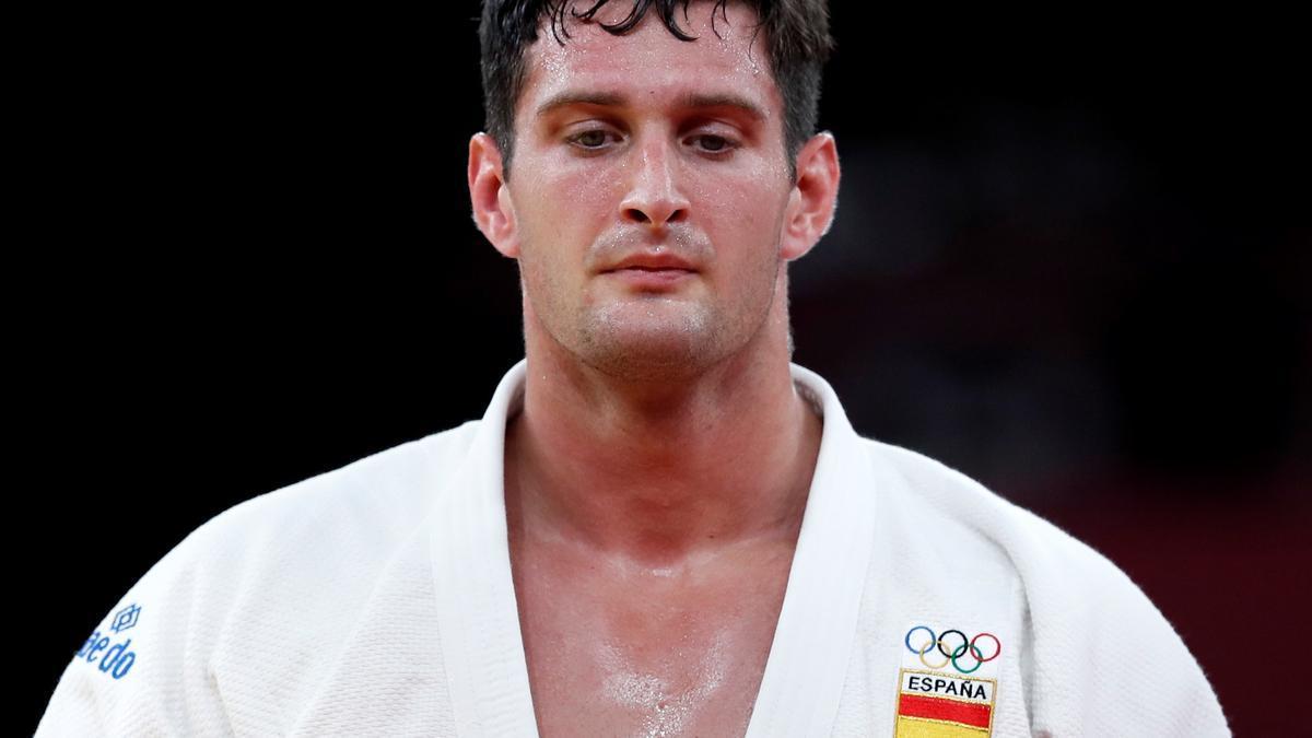 El judoka Niko Sherazadishvili, durante uno de sus combates.