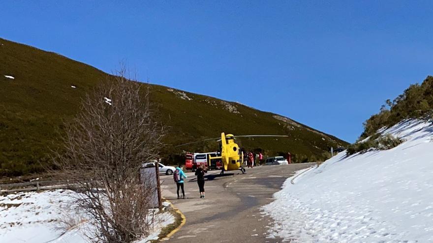 Fallece un hombre atragantado en el alto de la Farrapona (Somiedo)