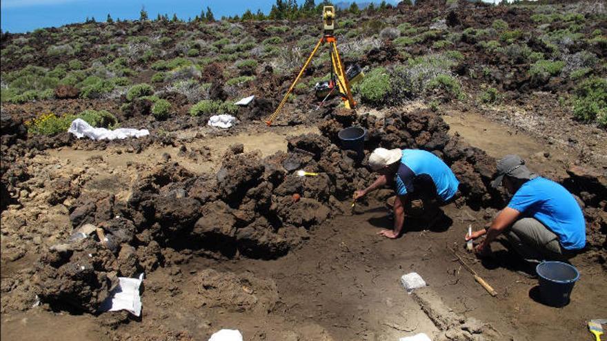Nueva campaña arqueológica en el Parque Nacional del Teide