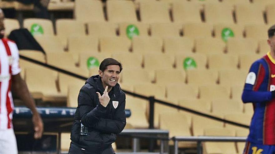 Marcelino ya se arrepiente de su estrategia en Bilbao