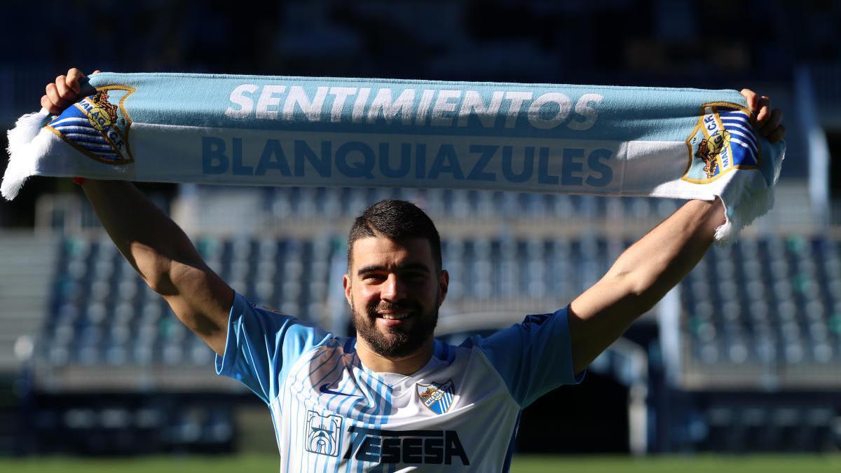 Presentación de Alexander González con el Málaga CF.