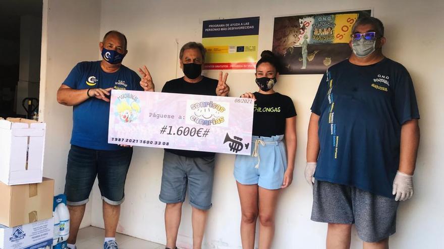 Marchilongas entrega a cuatro ONG su 'subvención' por el Carnaval Virtual