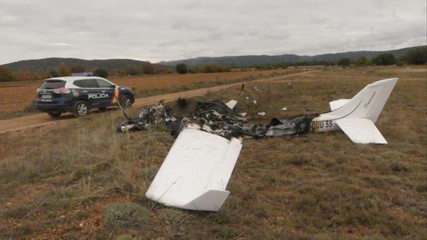 Dos heridos en un accidente de avioneta en Huesca