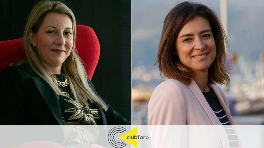 La ganadora y la finalista de los premios Planeta, Eva García Sáenz de Urturi y Sandra Barneda