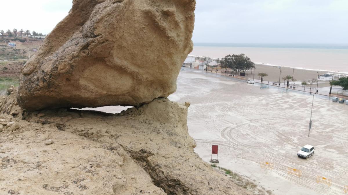 Las lluvias causan daños irreversibles en las Erosiones de Bolnuevo