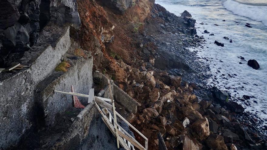 Puerto de la Cruz resta importancia a los últimos desprendimientos en Punta Brava