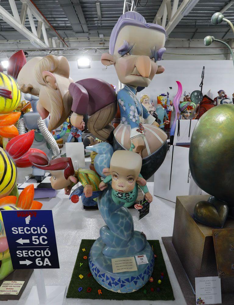 Fallas 2021: Ninots de las secciones Sexta a Octava (grandes).