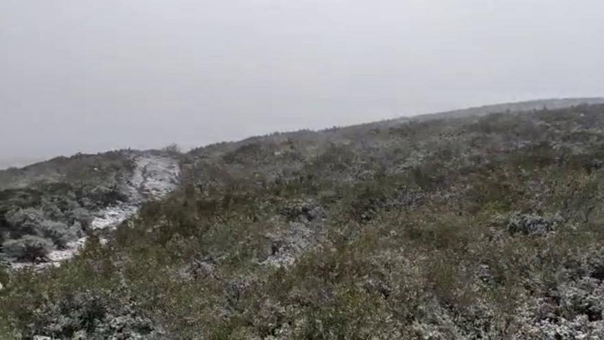 El blanco de la nieve llega a Sanabria en plena ciclogénesis