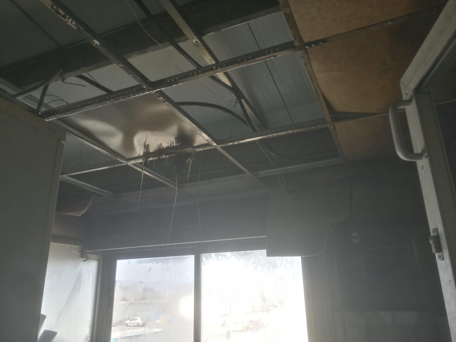 Incendio en las oficinas del puerto de Arguineguín