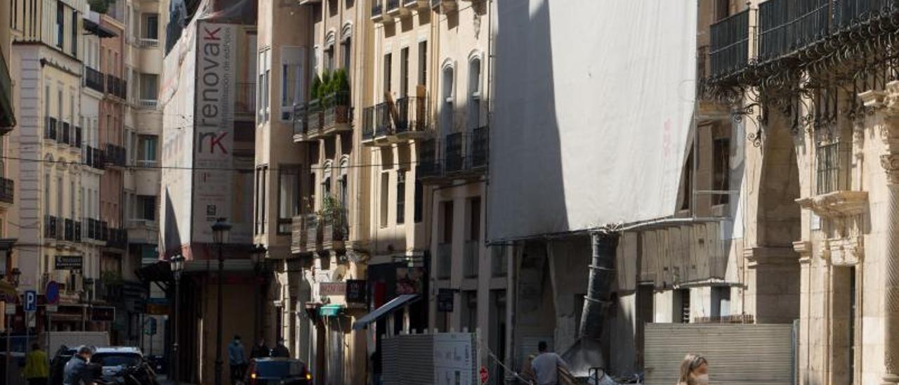 La pandemia ha paralizado la necesaria rehabilitación de muchos edificios. | JOSE NAVARRO