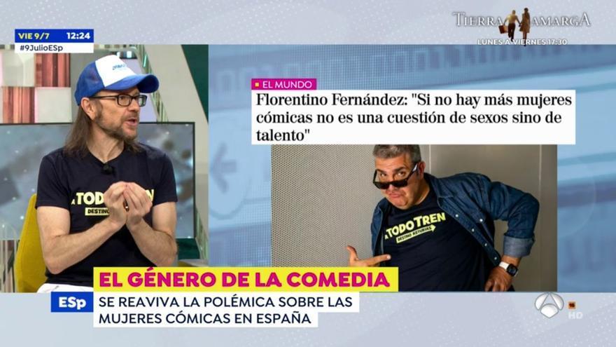 """Santiago Segura apoya a Flo tras sus polémicas palabras sobre las cómicas: """"Si puedes malinterpretar algo, lo malinterpretas"""""""