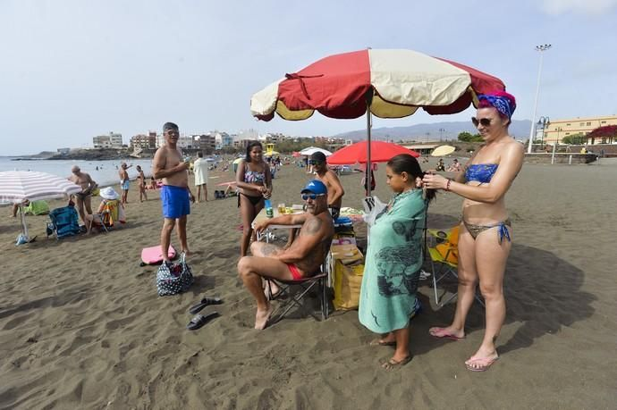 12-09-2020 TELDE. Reportaje en las playas de Telde: playa de Melenara. Fotógrafo: ANDRES CRUZ  | 12/09/2020 | Fotógrafo: Andrés Cruz