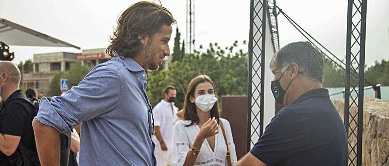 Feliciano López, Sandra Gago y Toni Nadal.