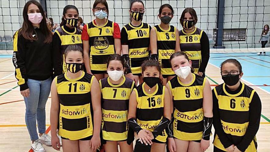 Voleibol  Triplete triunfal de las cadetes, infantiles y alevines del Real de Gandia CF