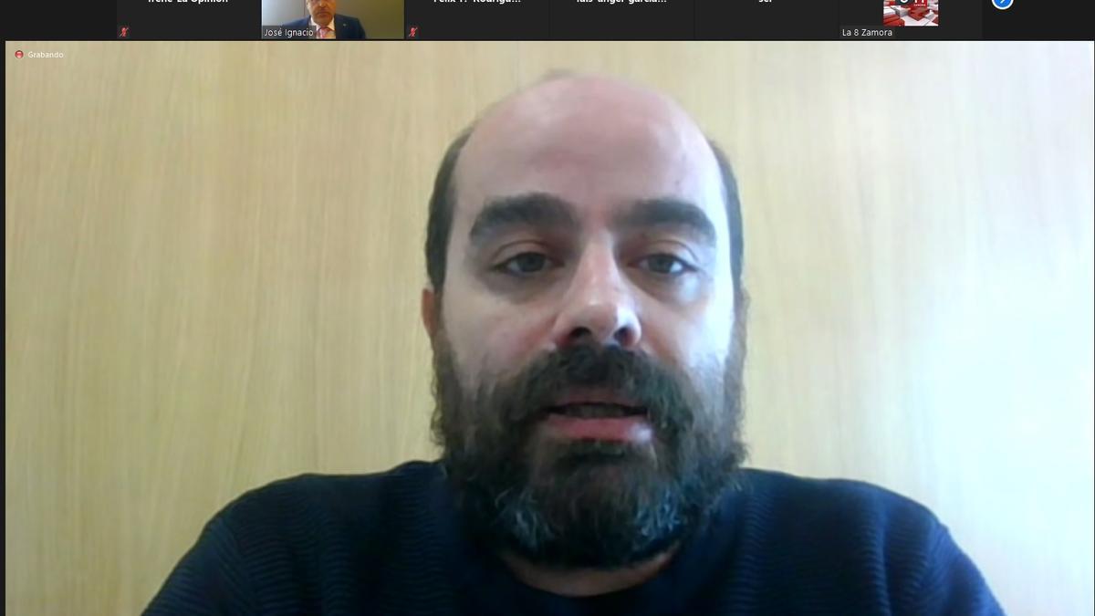 Eduardo Folgado en una rueda de prensa con el procurador José Ignacio Martín Benito