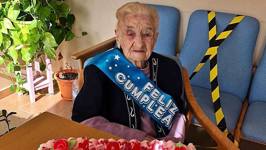 Guillermina Conejo celebra su 104 cumpleaños en una residencia de Morales de Toro