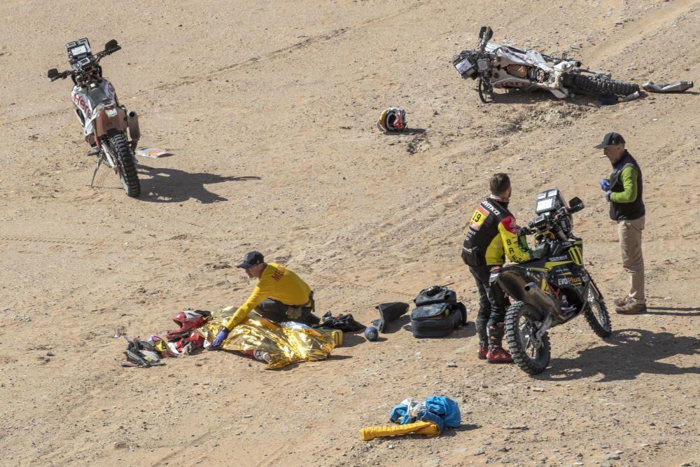 Las imágenes del trágico accidente de Gonçalves en el Dakar 2020