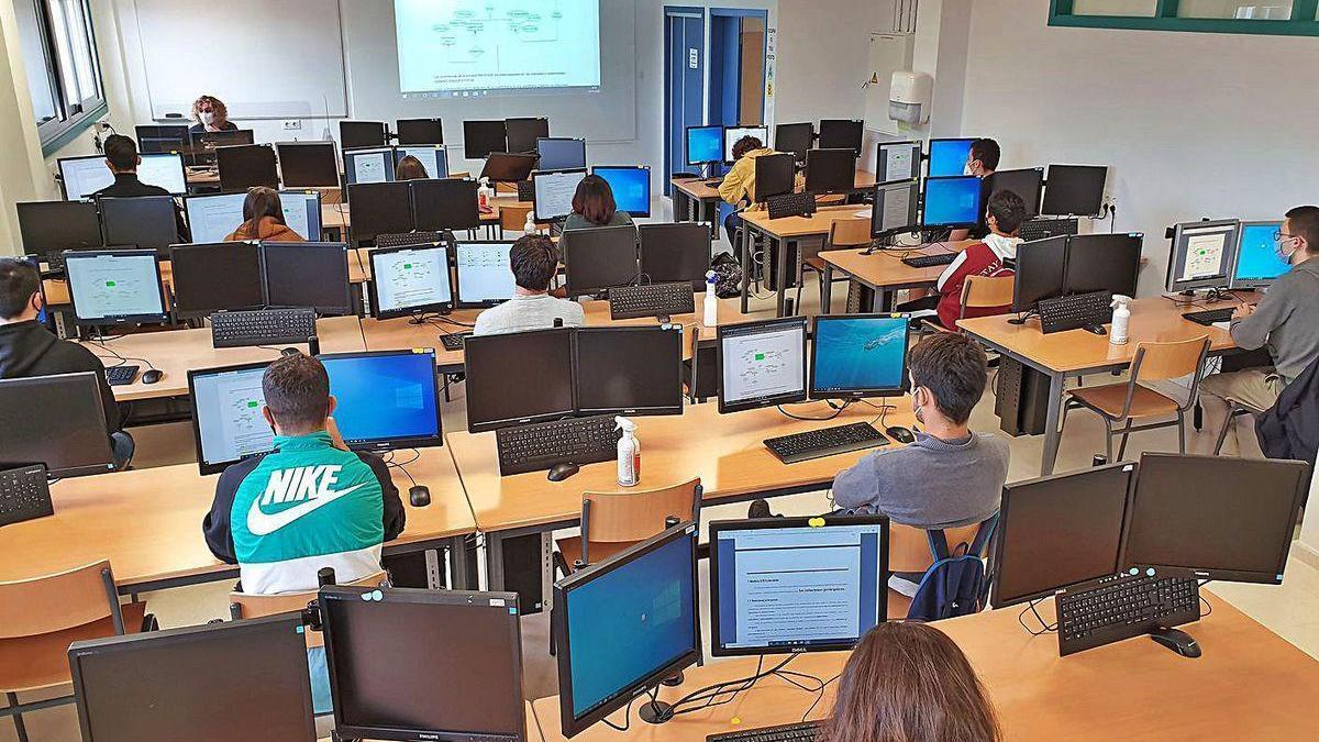 Un aula de FP de un instituto gallego.