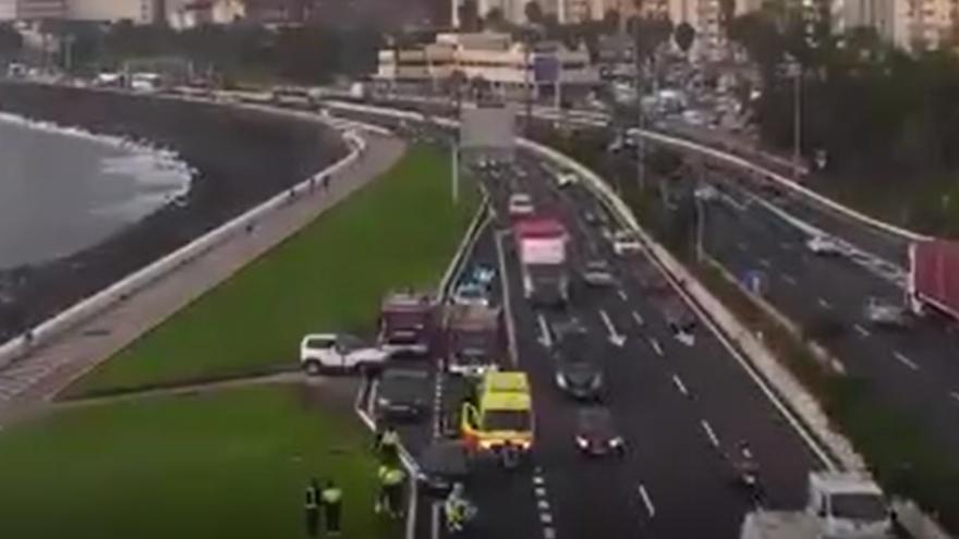 Accidente múltiple en la Avenida Marítima