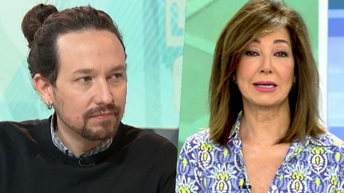 Pablo Iglesias y Ana Rosa Quintana