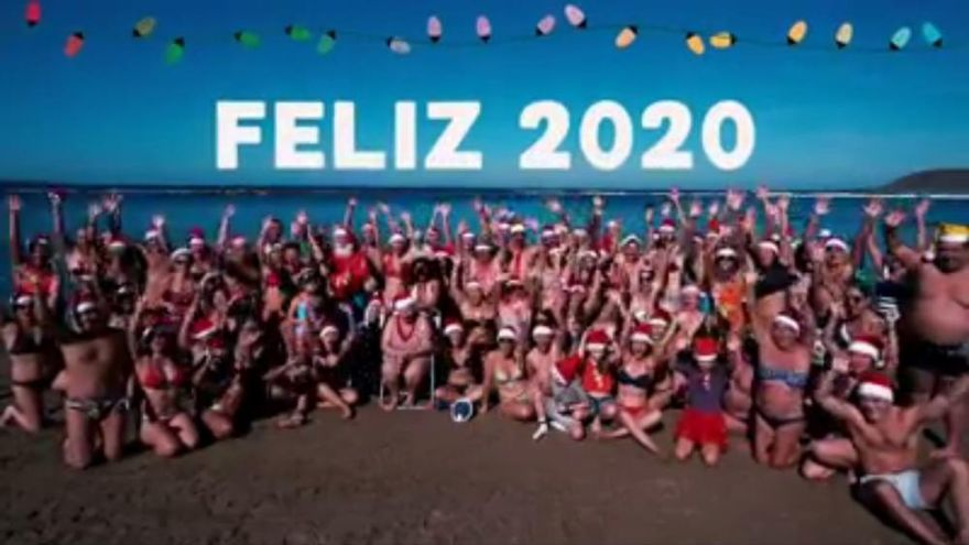 Música y fuegos en Las Canteras para recibir 2020