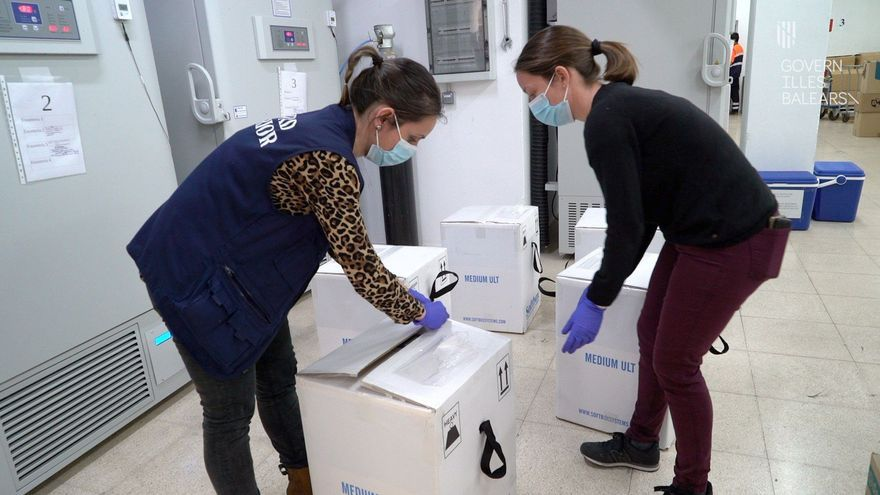 Llegan a Mallorca 33.930 nuevas dosis de la vacuna Pfizer