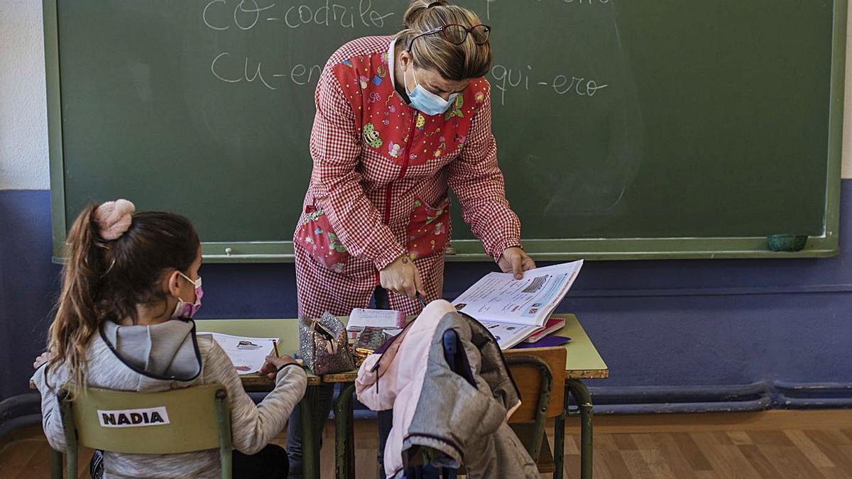 Un aula de la provincia, en una clase del primer trimestre. | Emilio Fraile