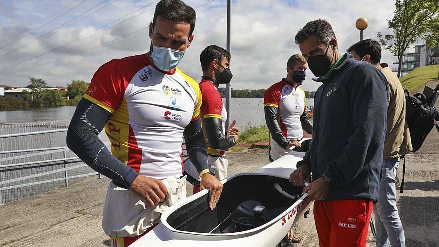 Piragüismo: La nueva K-4 llega a Trasona para preparar el asalto al podio olímpico
