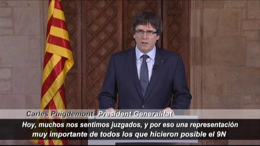 """Puigdemont: """"Hoy todos nos sentimos juzgados"""""""