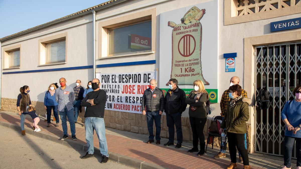 Huelga en la cooperativa 'Virgen de la Esperanza' en Calasparra