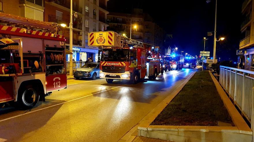 Herida por en el incendio de una vivienda en Alboraia