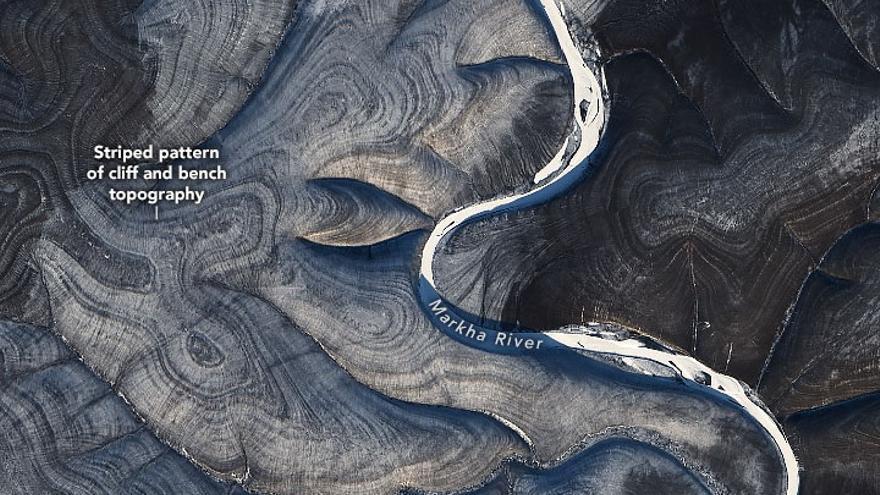 Las misteriosas líneas de origen desconocido descubiertas por la NASA en Siberia