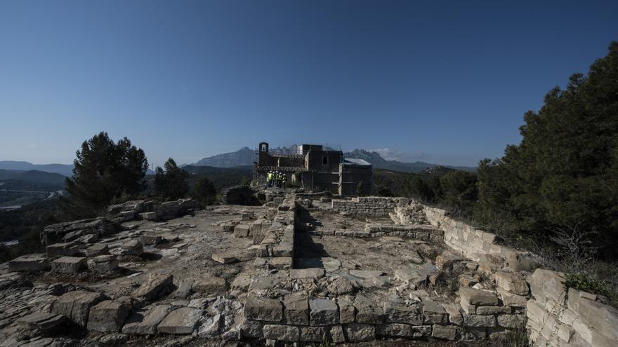 Sant Vicenç projecta la consolidació de les restes del castell medieval