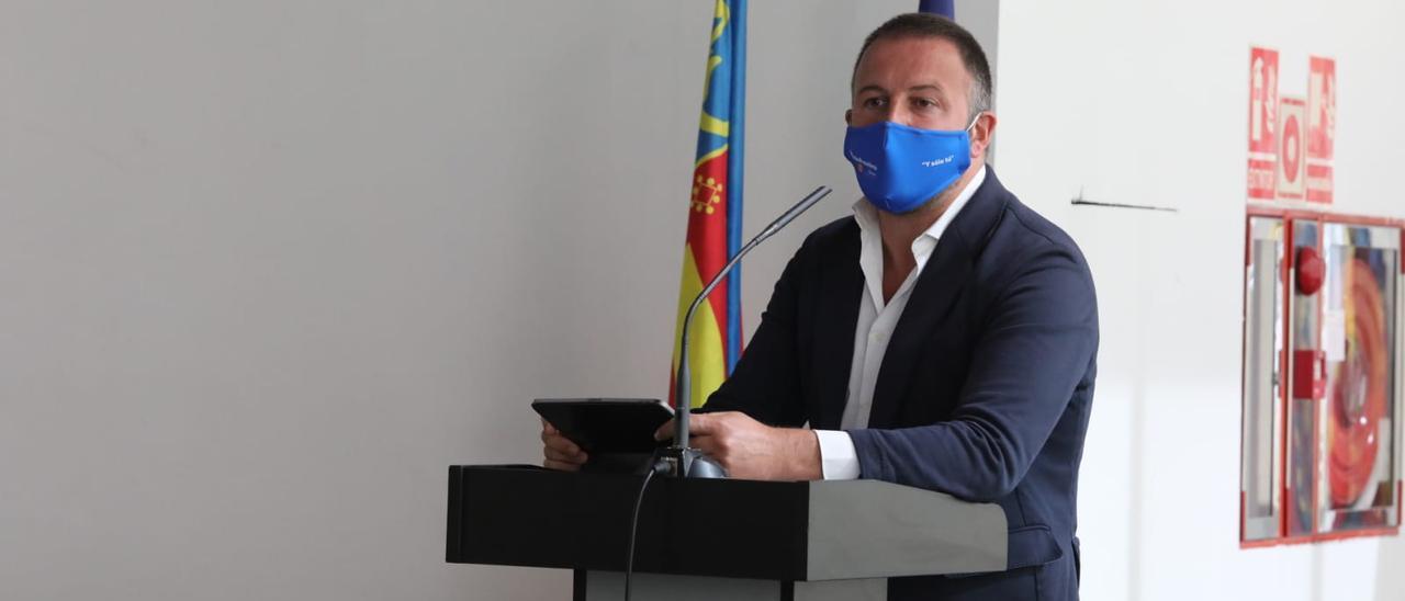 Pablo Ruz, en el debate sobre el municipio.