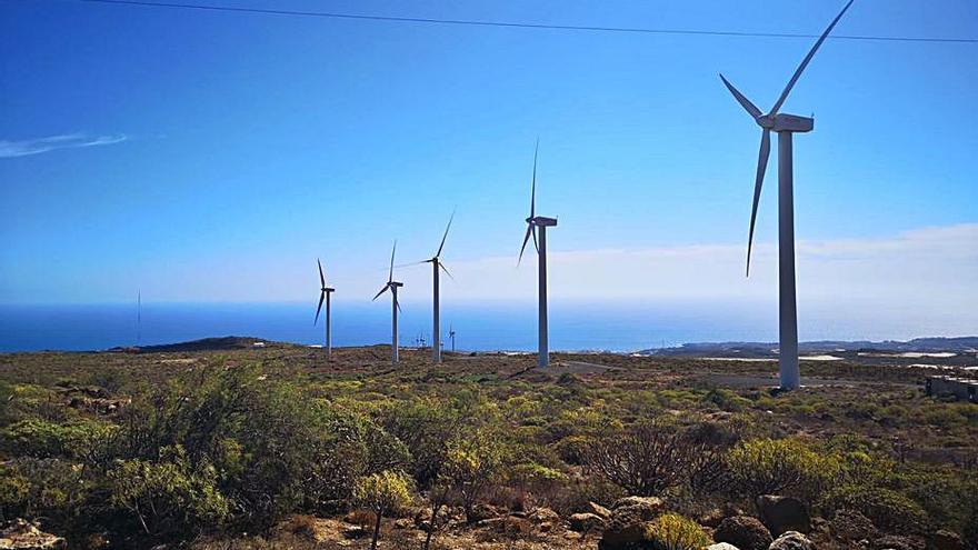 Delgado critica los parques eólicos y Primero Arico la acusa de traición