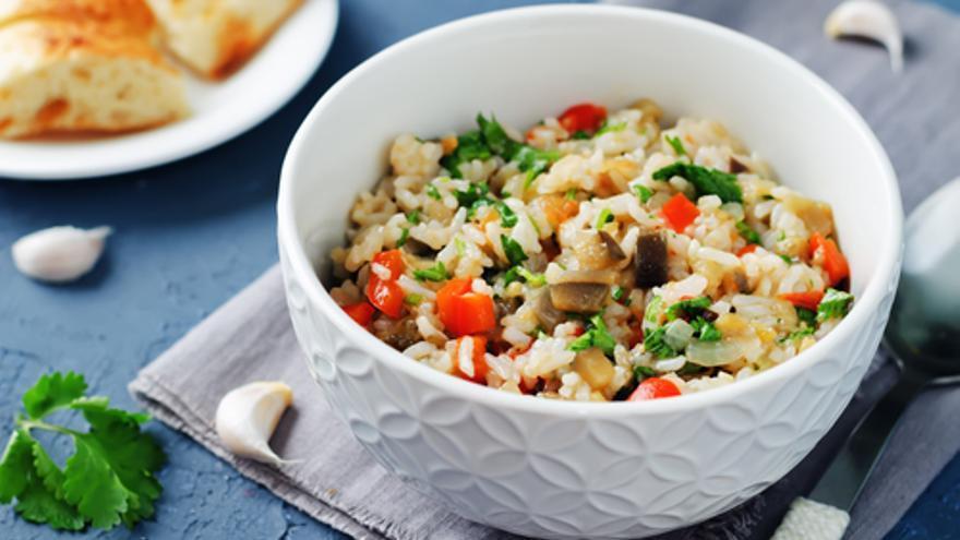 Arròs blanc amb verdures